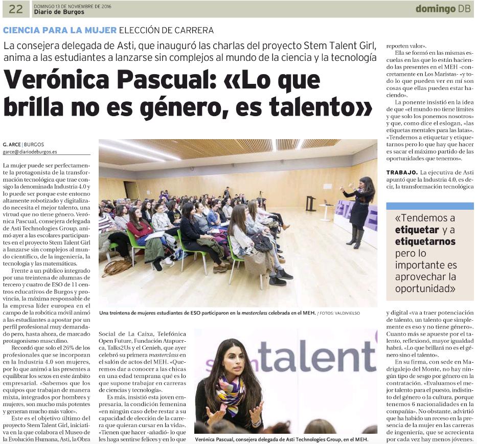 Diario de Burgos_Verónica Pascual