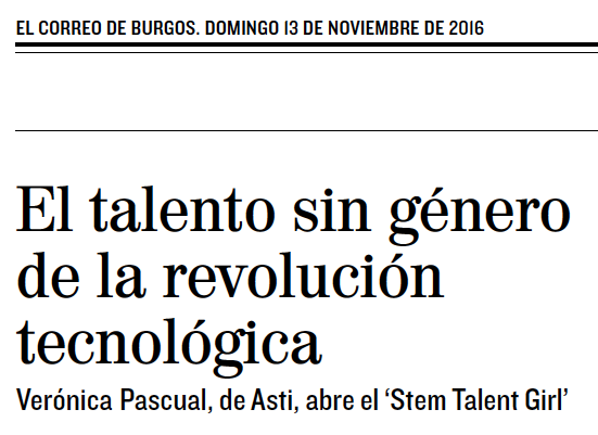 El Correo de Burgos_Stem Talent Girl_12_11_16
